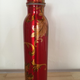 "COPPER WATER BOTTLE ""Red"""